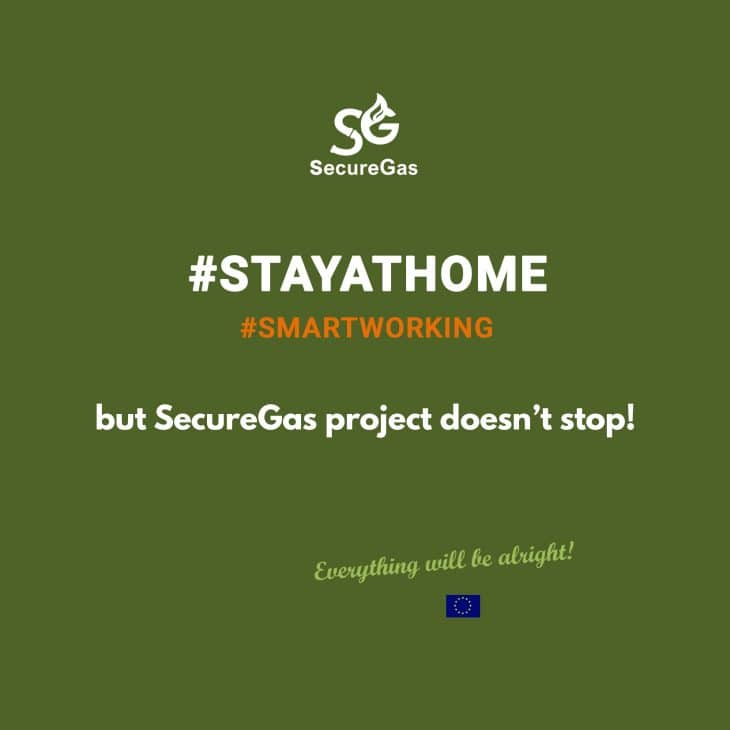 #COVID19 #STAYATHOME… but SecureGas project doesn't stop!