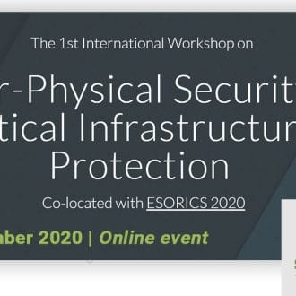 CPS4CIP 2020 workshop at @ESORICS 2020