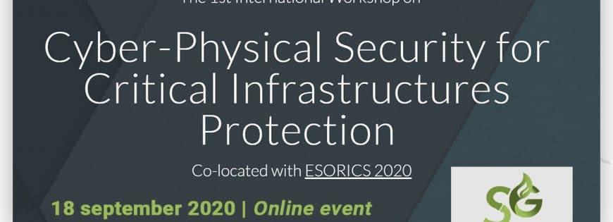 CPS4CIP 2020 workshop at @ESORICS 2020