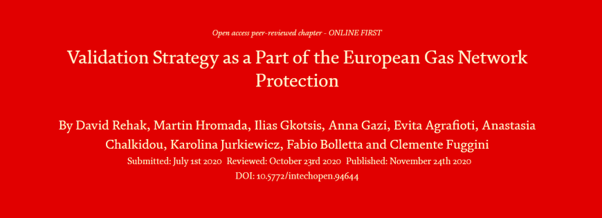 """New publication: """"Validation Strategy as a Part of the European Gas Network Protection"""""""